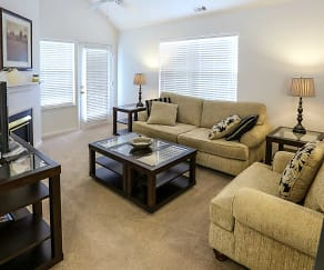 Living Room, Daniel's Creek Luxury Apartments