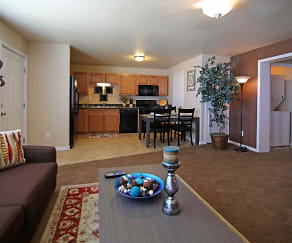 Living Room, Fairways Apartments