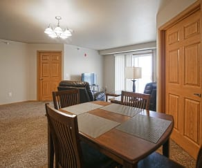 Dining Room, Tioga Apartments