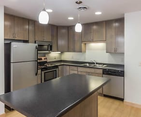 Kitchen, The Aurora at Griggs Square