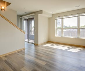 Living Room, Capitol's Edge Apartments