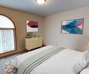 Bedroom, French Creek Townhomes