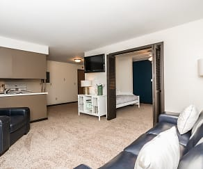 Living Room, Valley Park Apartments