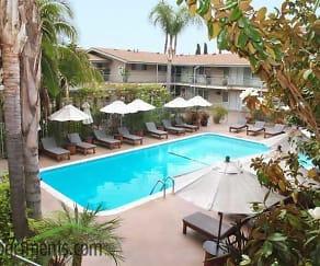 Pool, Palm Garden Apartments