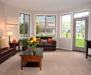 Living Room, Eagle Crest Apartments