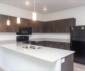 Kitchen, Mill Point Apartments