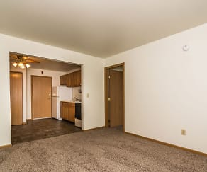 Amberwood Court Apartments - Living Room, Amberwood Court