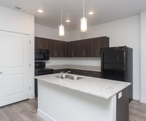 Kitchen, Mill Point Apartments