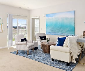 Living Room, Oceans East Luxury Apartment Homes