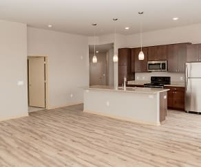 Living Room, Watts Hill Apartments