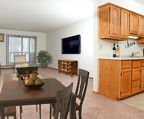Dining Room, Woodstone Apartments