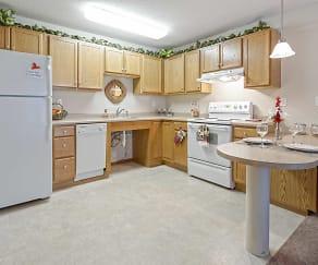 Kitchen, Parkway Gardens Senior Apartments 55+