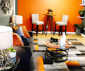 Living Room, Bass Place Apartment Homes
