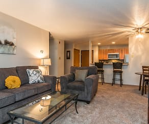 Stylish Living Space, Oxbow Park Apartments