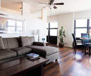 Living Room, Belmont Tower Apartments