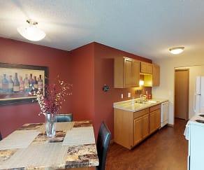 Kitchen, Forest Park Apartments