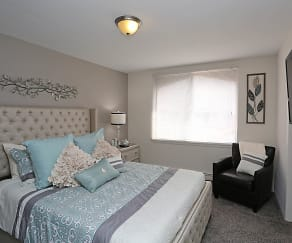 Bedroom, Maryland Park Apartments