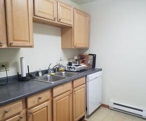 Kitchen, Locust III Apartments