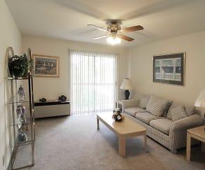 Living Room, Emhurst Lake Apartments