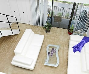 Living Room, The Palms East Apartments