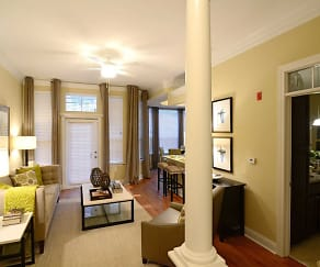 Living Room, Liberty Place Apartments & Studios