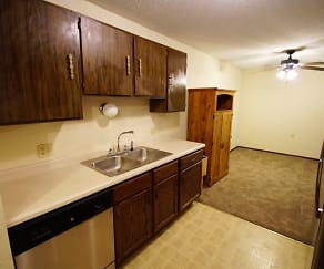 Kitchen, Northern Oaks Apartments