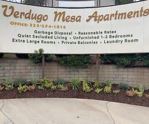 Community Signage, Verdugo Mesa Apartments