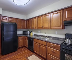Kitchen, Nineteen North Apartments