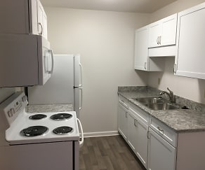 Kitchen, Oakwood Apartments