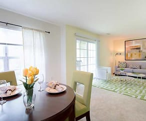 Two Bedroom Living/Dining Area, Huntington Townhomes