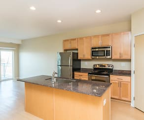 Kitchen, Mall View Apartments