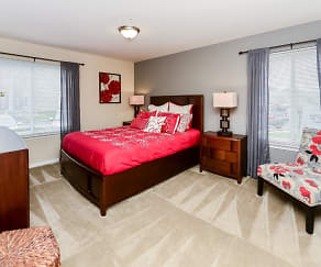 Bedroom, Fox Run Apartments & Townhomes