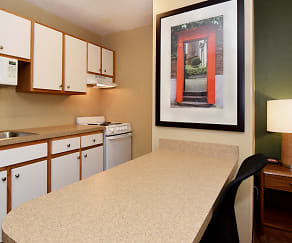 Kitchen, Furnished Studio - Greenville - Haywood Mall