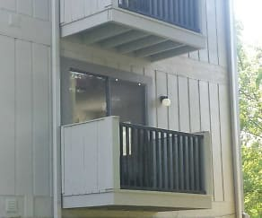 private balconies, Eagles Eyrie Apartments