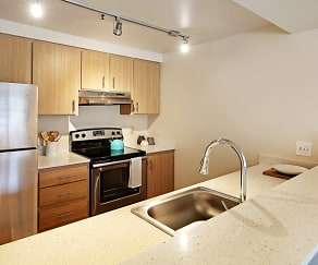 Kitchen, Townside Flats