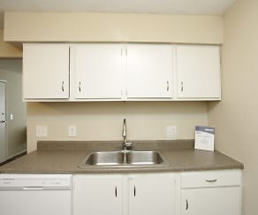 Kitchen, Crossroads Village Apartments