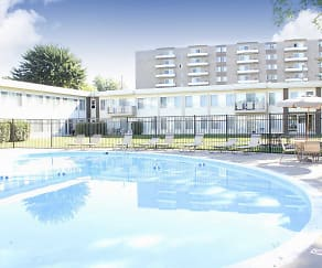 Pool, Executive Towers And Gardens Apartments