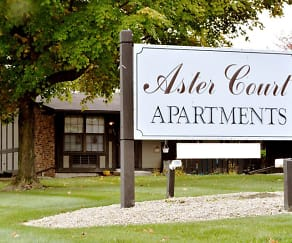 Community Signage, Aster Court Apartments