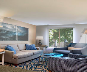 Living Room, Fountain View Apartments