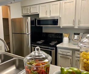 Completely renovated kitchen includes stainless appliance package, brushed nickel finishes and new cabinets., University Green