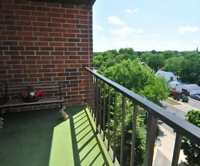 View From Balcony, Evergreen Apartments