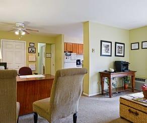 Living Room, Mill Run Apartments