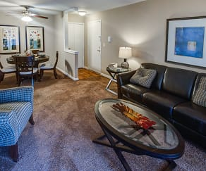 Living Room, Brookdale Apartments