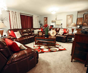 Living Room, Cypress Trace Apartments