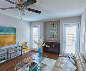 Living Room, Oaks Of Northgate Apartments