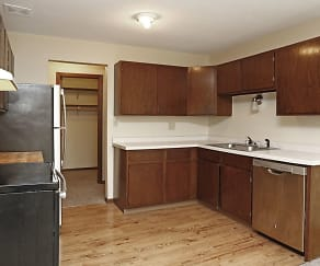 Kitchen, Sunrise Court Apartments