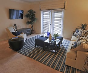 Living Room, Spring Water Apartments