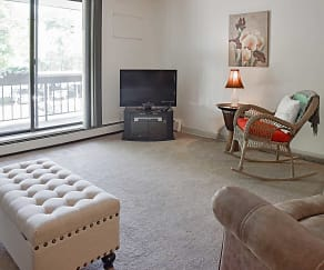 Living Room, Thayer Garden Apartments