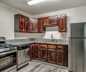 Kitchen, McClellan Court Apartments