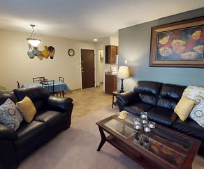 Living Room, Castlerock Apartments